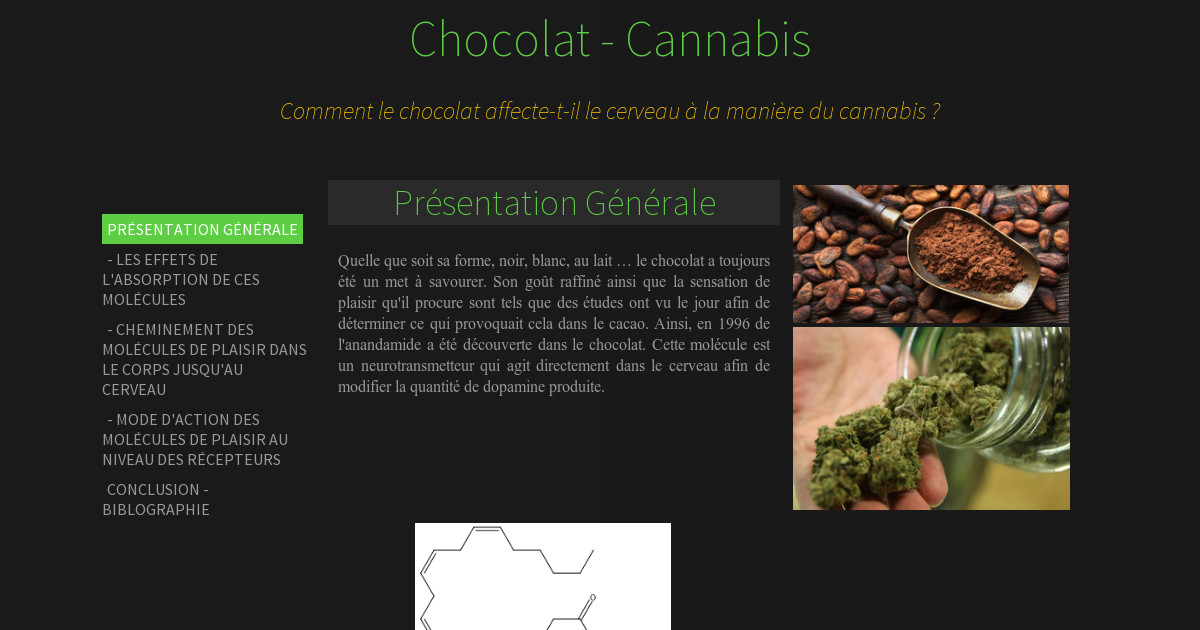 chocolat cannabis. Black Bedroom Furniture Sets. Home Design Ideas